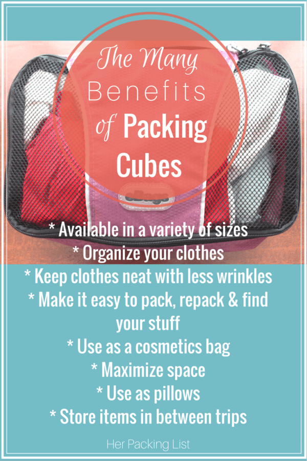 benefits of packing cubes