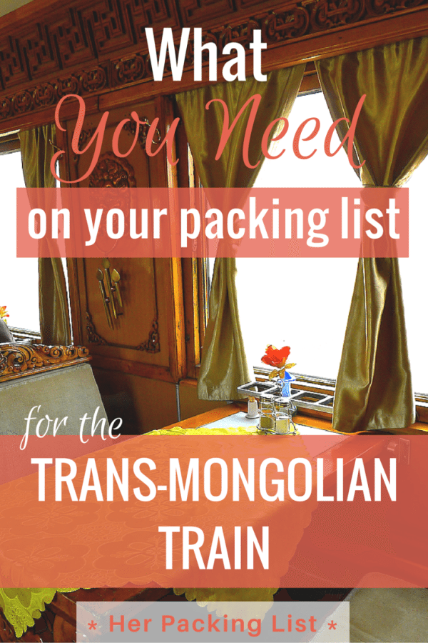 TRANS-MONGOLIAN TRAIN packing list for women