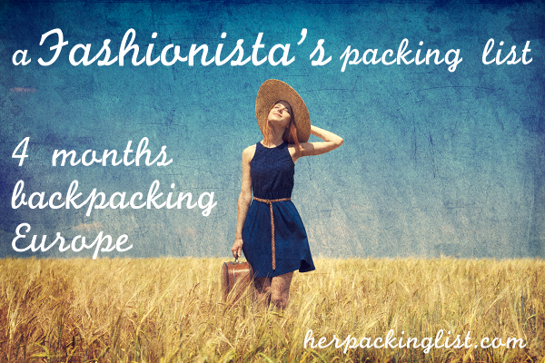fashionista's packing list