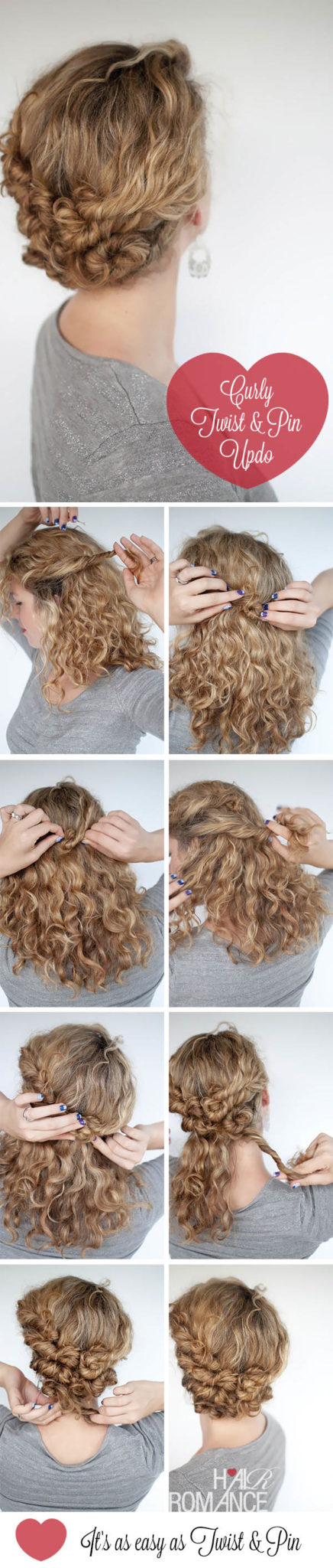 Easy Updos For Long Curly Frizzy Hair : Easy travel hairstyles how to twist and pin updo her