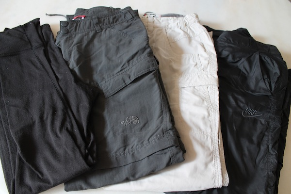 everest base camp packing list - long johns, trekking trousers and fleece lined tracksuit bottoms