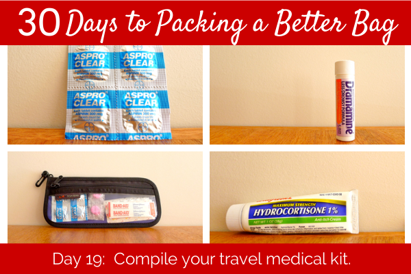 Day 19 Compile Your Travel Medical Kit