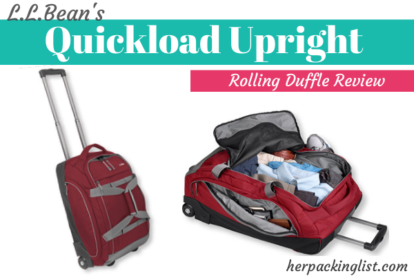 L.L.Bean rolling duffle review