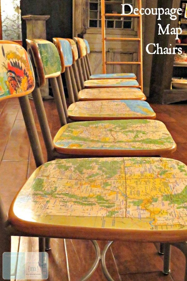 DIY-Decoupage-Map-Chairs