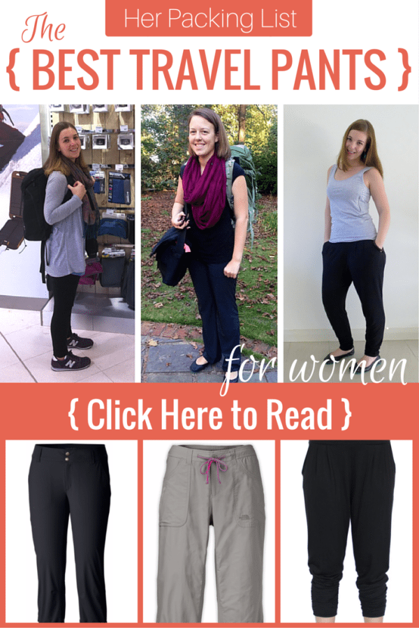 The best travel pants for women.