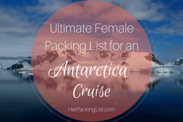 packing list for an Antarctica cruise
