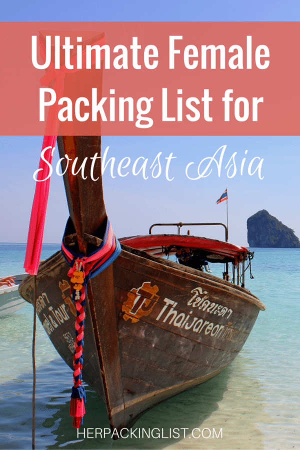 Southeast Asia packing list PIN