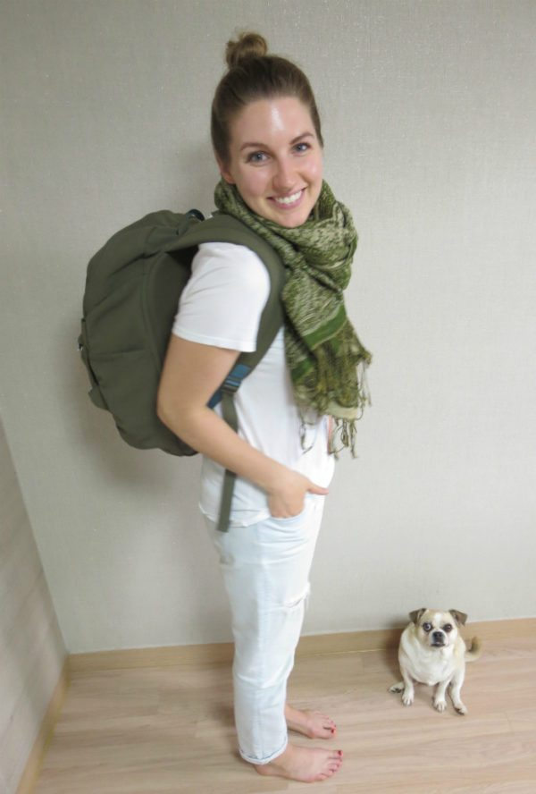 Me and my backpack and dog
