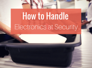 how to handle electronics at security