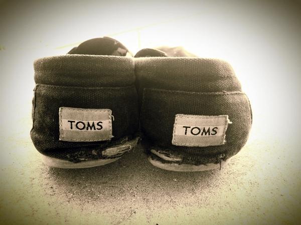 Back of Melissa's Toms