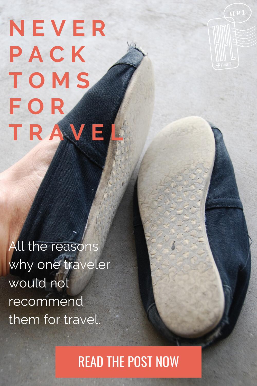 toms bad travel shoe