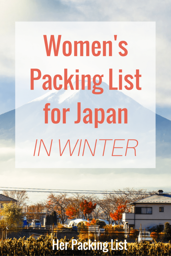 How to Pack for Japan in Winter