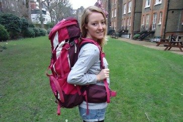 JennyRTW and her Vaude Backpack