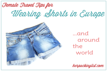 wearing shorts in Europe and around the world