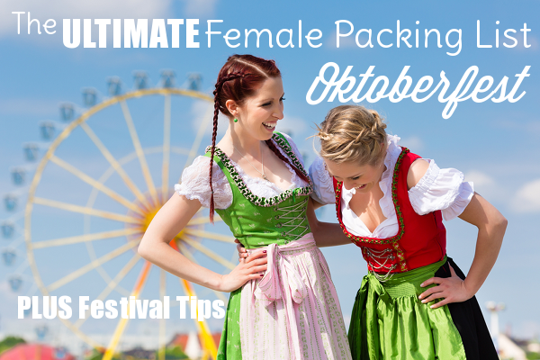 female packing list for oktoberfest