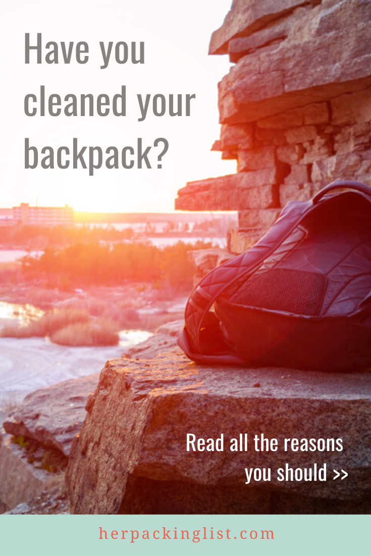 clean your backpack after a trip