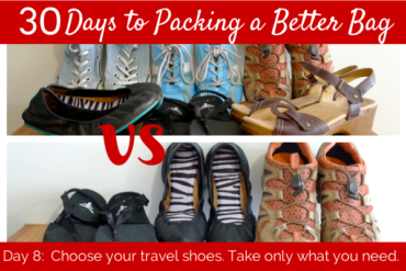 day 8: choose your travel shoes