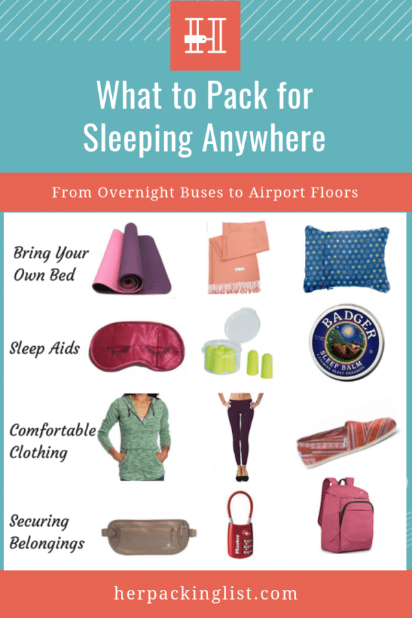 packing list for sleeping anywhere