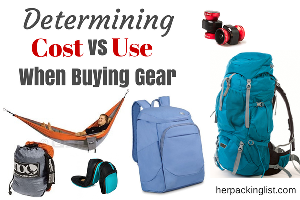 determining cost vs use when buying gear