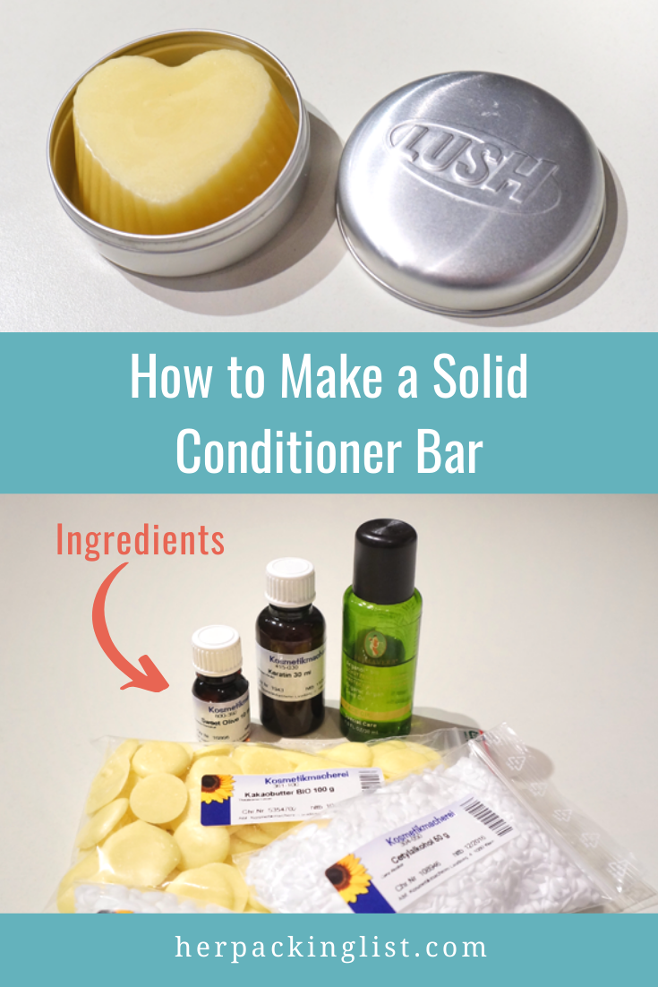 how to make a solid conditioner bar