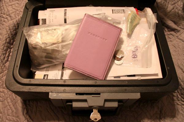 fireproof lockbox for travel valuables