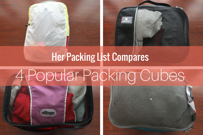 comparison of 4 packing cube models
