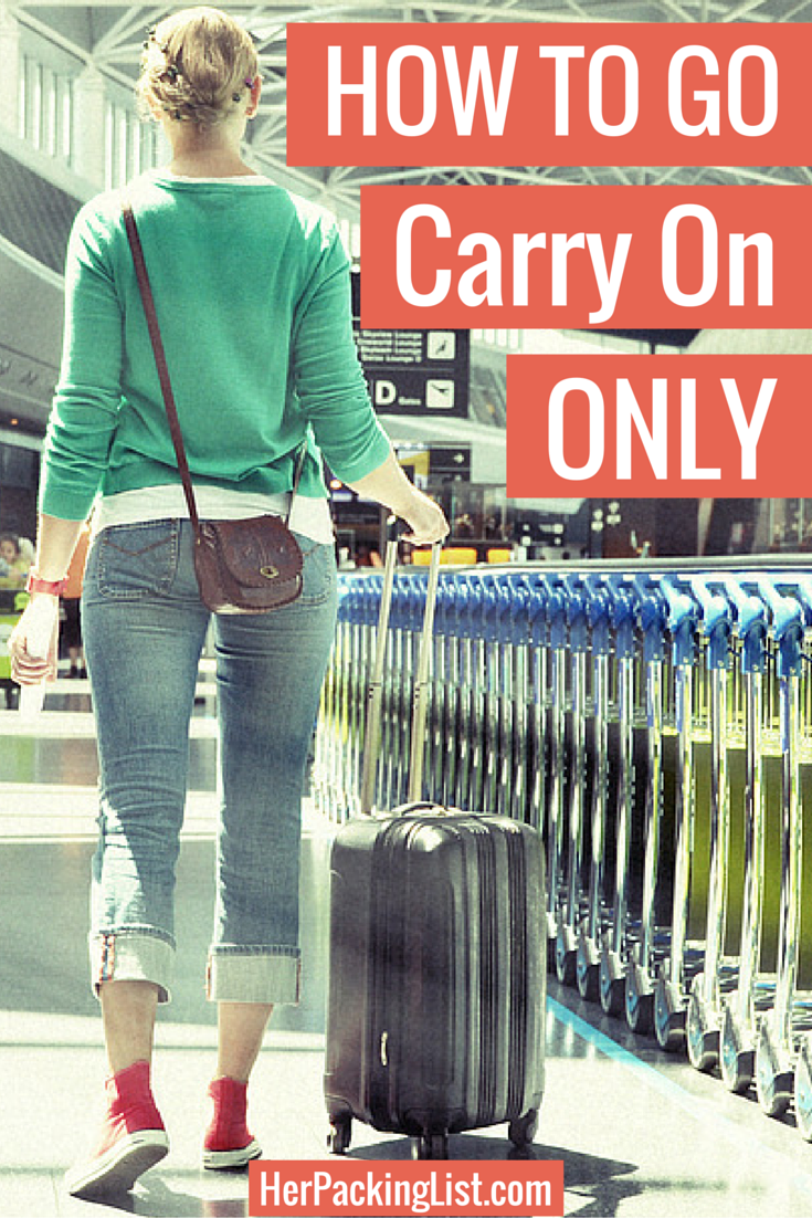 traveling with only a carry on