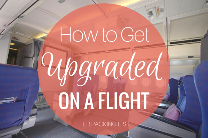 how to get upgraded on a flight