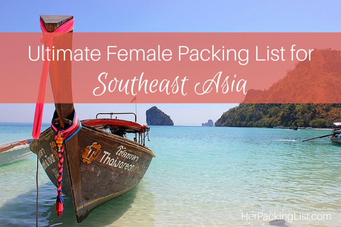 Southeast Asia packing list for women