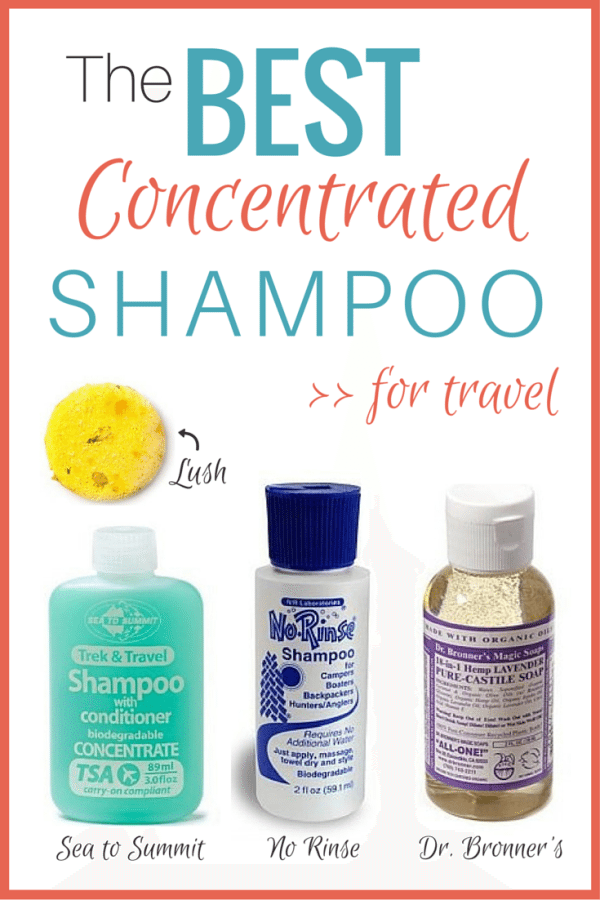 Best Concentrated Shampoo for Travel