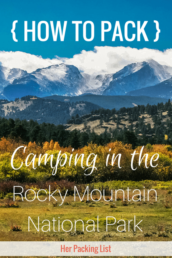 packing for rocky mountain camping trip