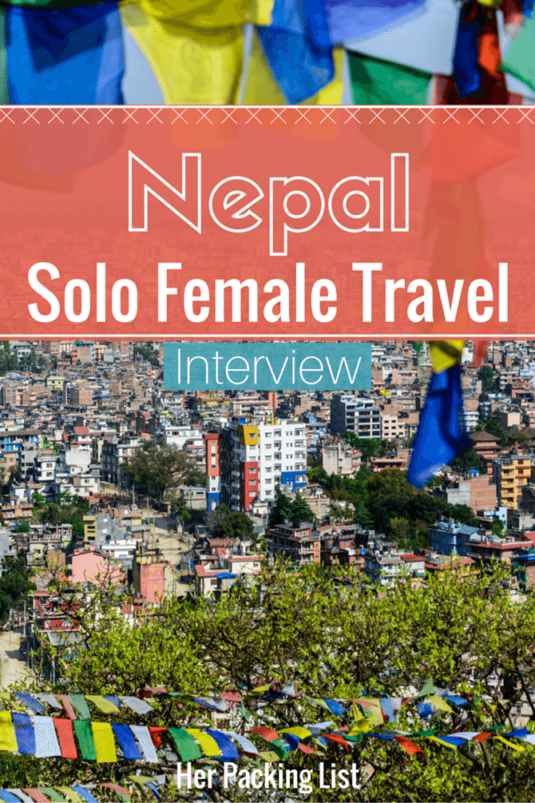solo female travel nepal pin