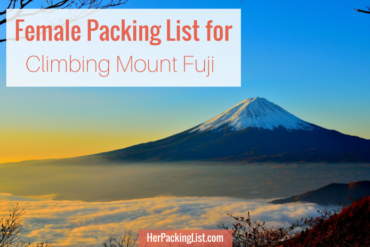 packing list for climbing mount fuji