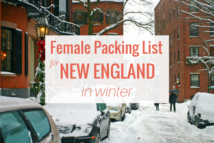 packing list for new england winter