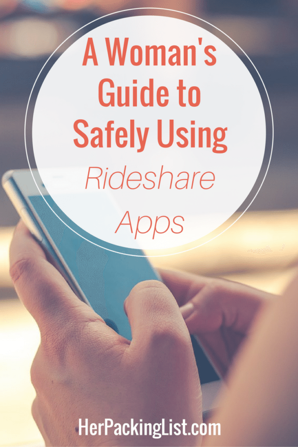 How to safely use rideshare apps.