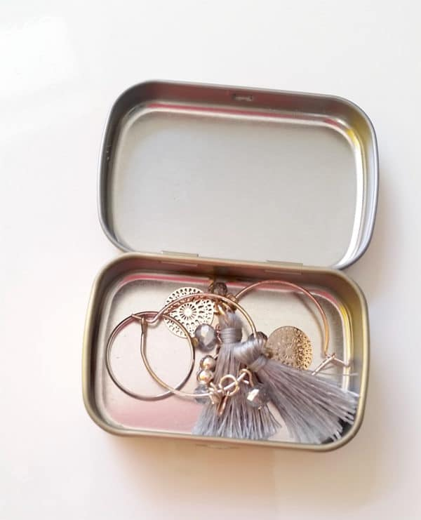 Mint tins for rings and earrings