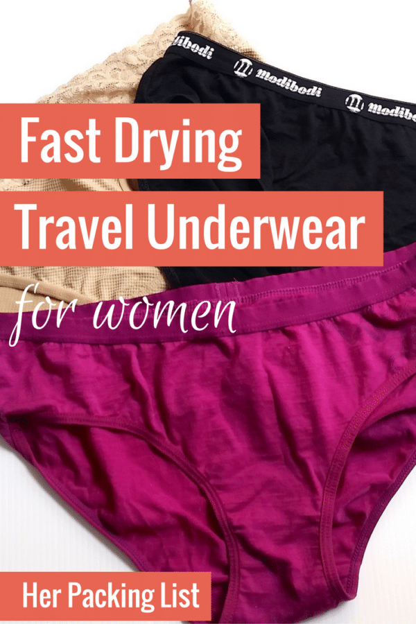 fast drying underwear options for travel