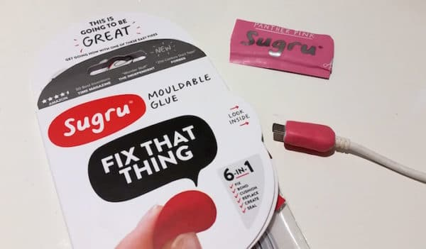 sugru for fixing things when you travel