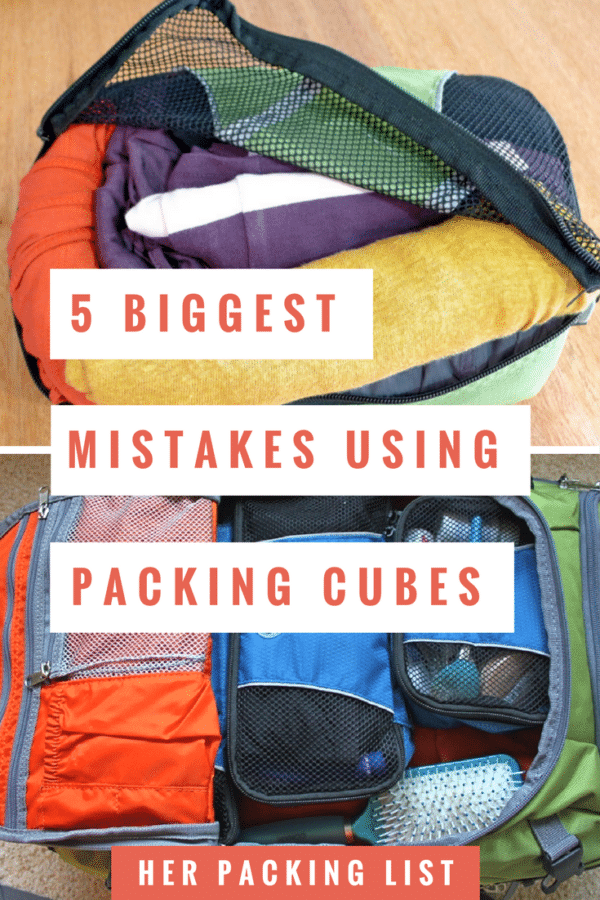 5 biggest mistakes using packing cubes