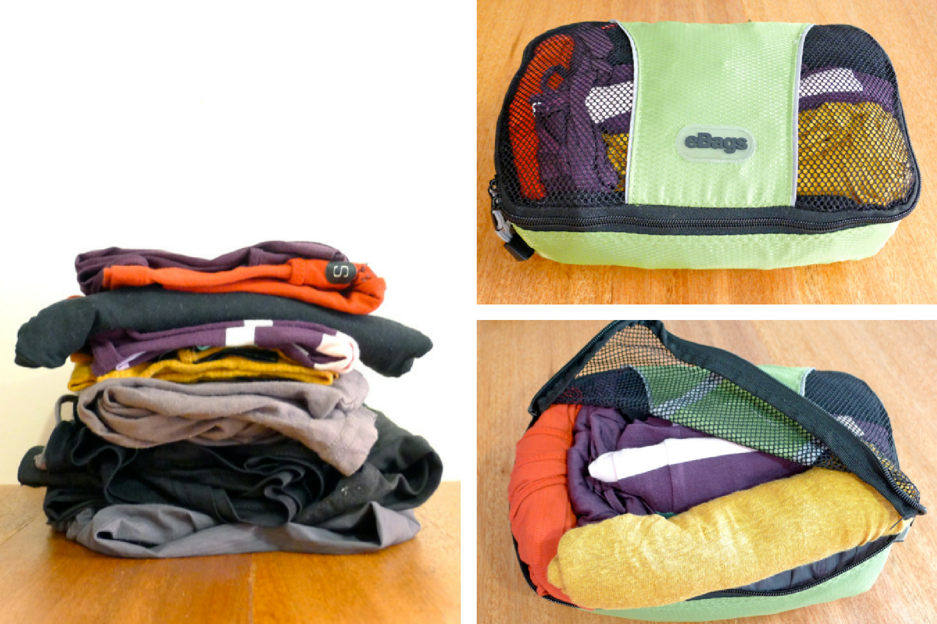 Packing cubes compress and organize.