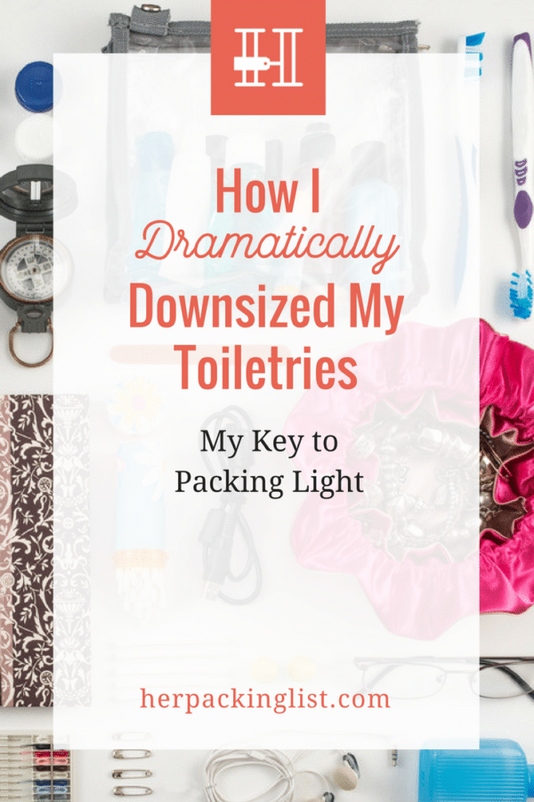 how to downsize toiletries and pack light