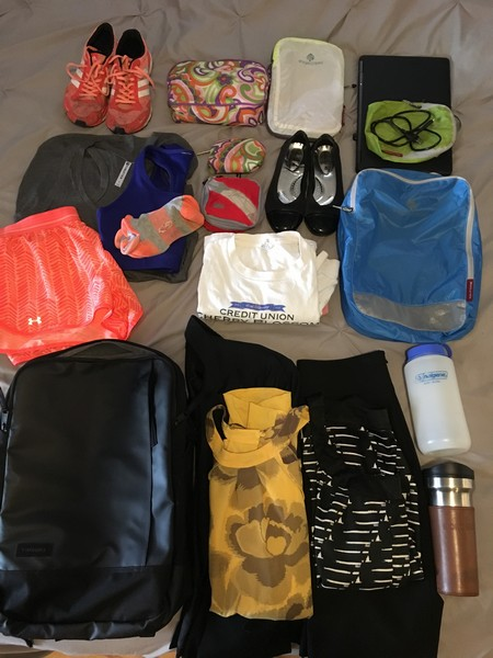 female packing list for a packing list for a minimalist business trip