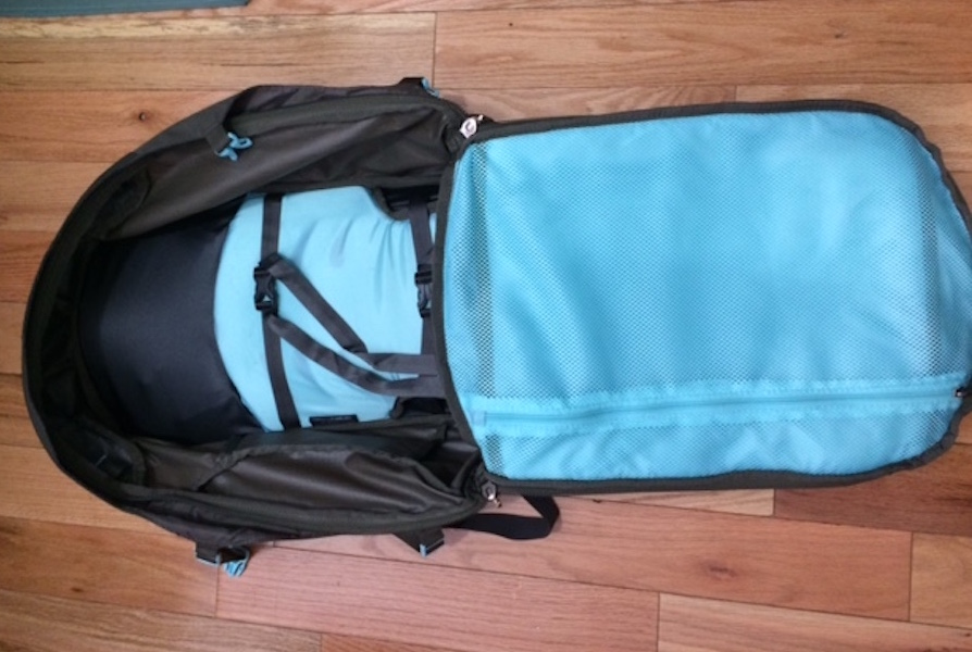 inside the osprey fairview 40 backpack