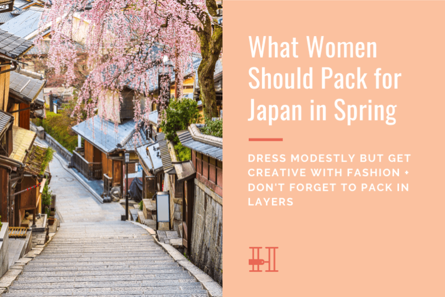 spring japan packing list