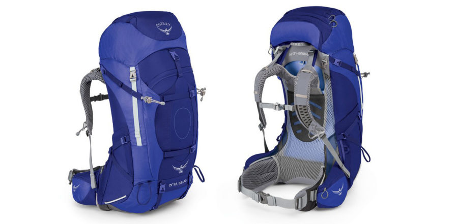 Osprey Ariel AG 65L front and back