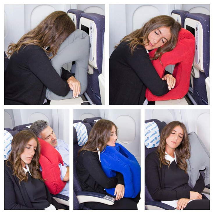 Woollip Inflatable Travel Pillow for flying