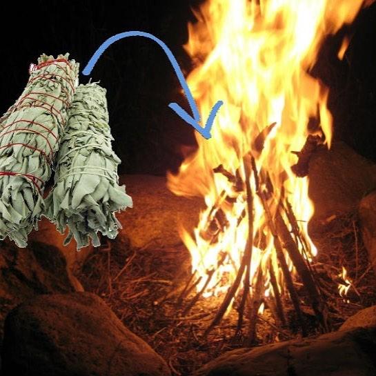 sage on fire to keep bugs away