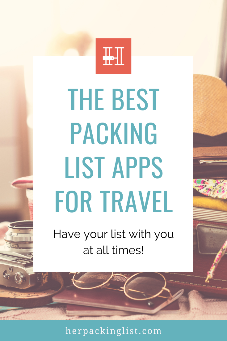packing list apps for travel