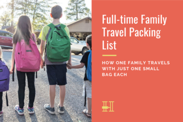 full-time family travel packing list