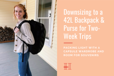 downsizing to a 42l backpack